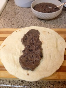 add refried beans