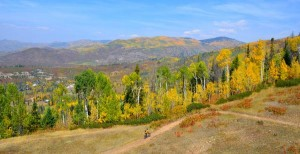 The choice is yours: Take the gondola to the top at Steamboat Springs or get there on your own. Either way, mountain biking down is pretty sweet. (Provided by Shannon Lukens)