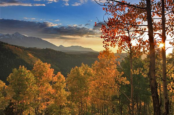 Fall colors five colorado towns that glow gold mile high mamas take the free gondula to the mountaintop to look out over the magnificent fall color sciox Choice Image