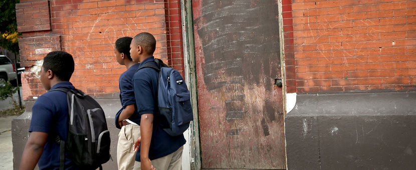 Chicago Police And Neighborhood Officials Escort Children To School