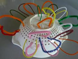 Pipe cleaner and a colander