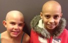 Kamryn Renfro, left, with friend Delaney Clements, right, who is battling cancer. (Photo courtesy of Jamie Olson Renfro)