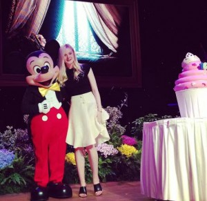 Elle Fanning and Mickey