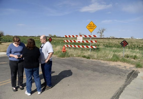 Parents receive news that a proposed Mineral Resources Inc. drilling operation near Frontier Academy would not move forward. (AAron Ontiveroz, The Denver Post)