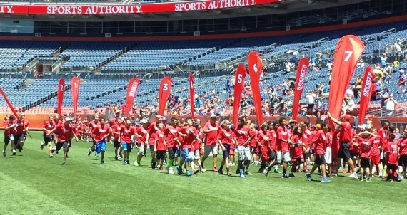 sports authority football field day