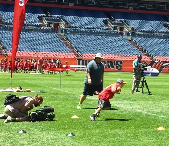 football field day at sports authority field