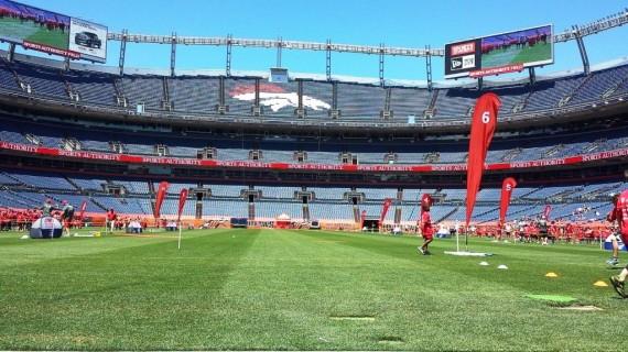 on the field at mile high stadium