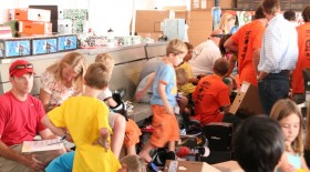 Kids getting ready for ski season at Ski Rex. Photo courtesy of Colorado Ski & Golf.