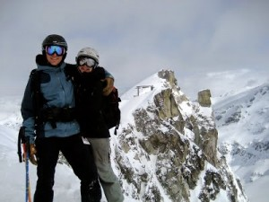 On top of Whistler in 2009. We fell in love with the place together.