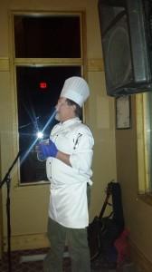 Chef Rybak describes the meal