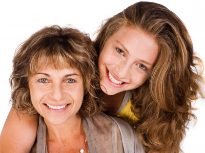 teen and her mom