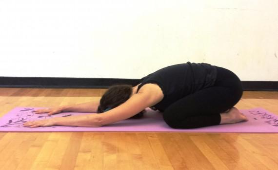yoga for moms child's pose