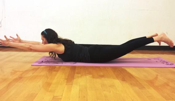 yoga for moms locust pose