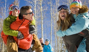 Three-generational family enjoys a day at Beaver Creek Resort.