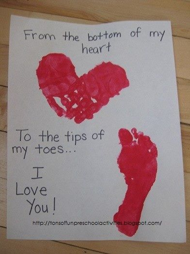 Heart and Toes Card